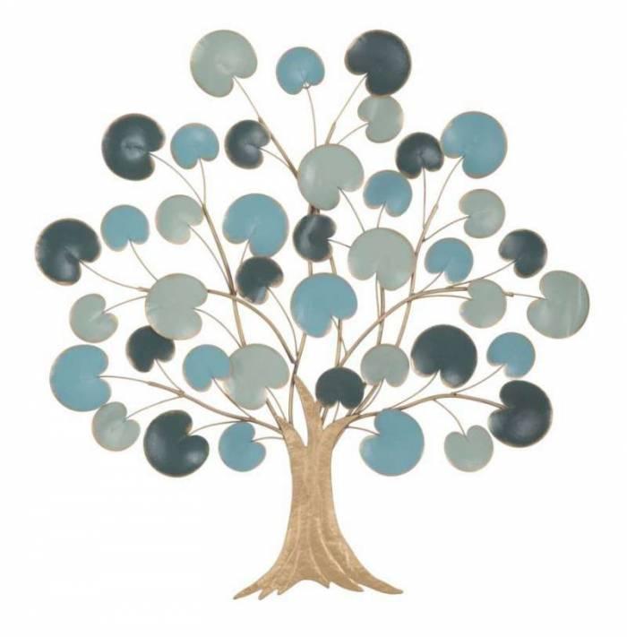 Decorațiune de perete Apple, 90x89x2.5 cm, metal, albastru