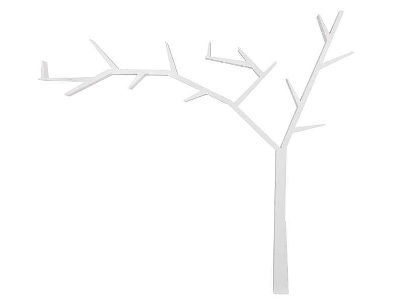 Etajeră Poprad, 255x220x15 cm, lemn de pin, alb poza