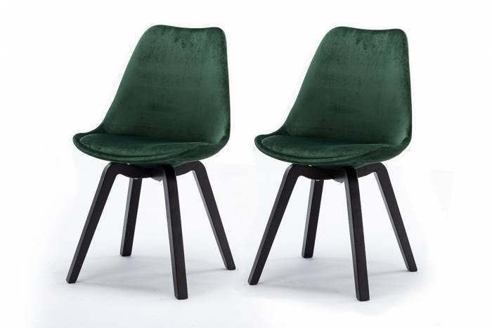Set de 2 scaune dining retro Paris, catifea