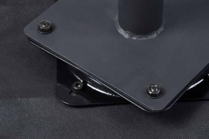 Set de 2 fotolii rotative Barton 55x55x87 cm, catifea/metal