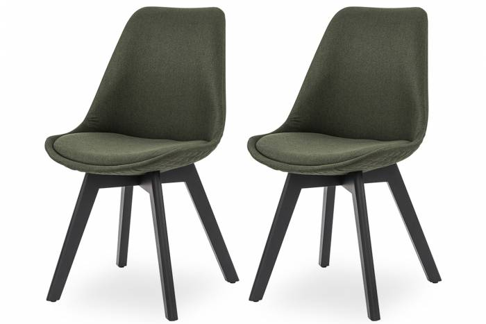 Set de 2 scaune dining retro Paris, stofă