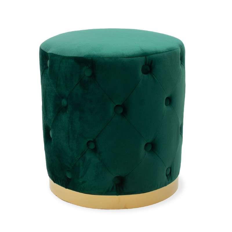 Taburet Cora Dark Green poza