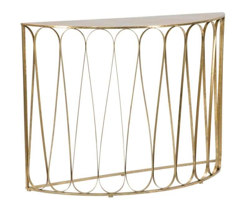 Consolă Venice, 115x36 cm, metal, auriu poza