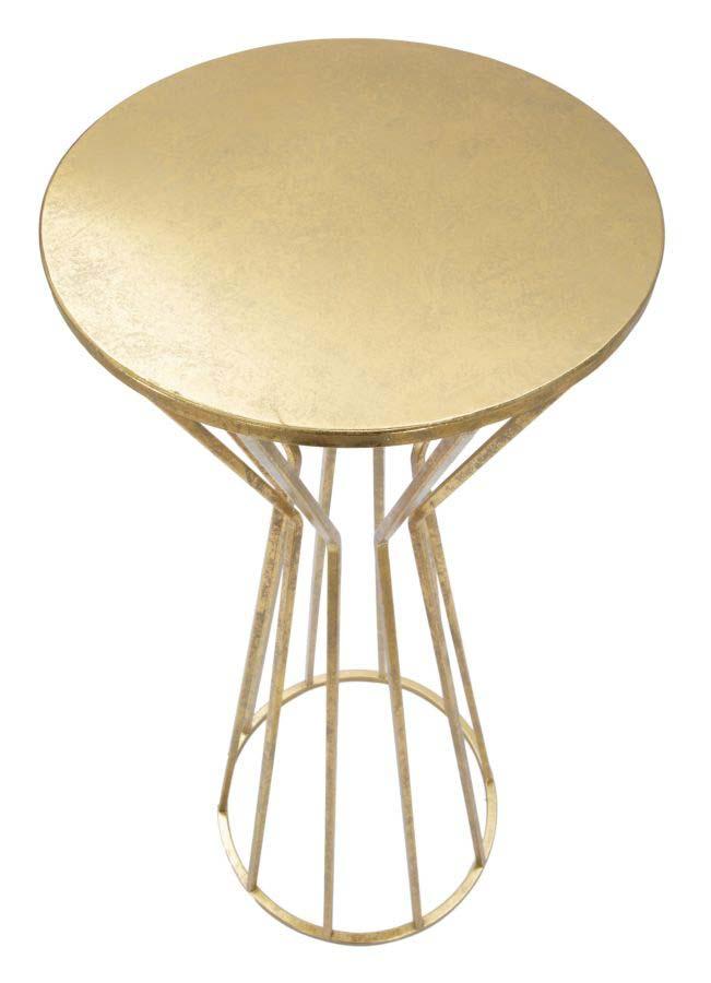 Masă de telefon Stick Glam, 38x38 cm, metal, auriu