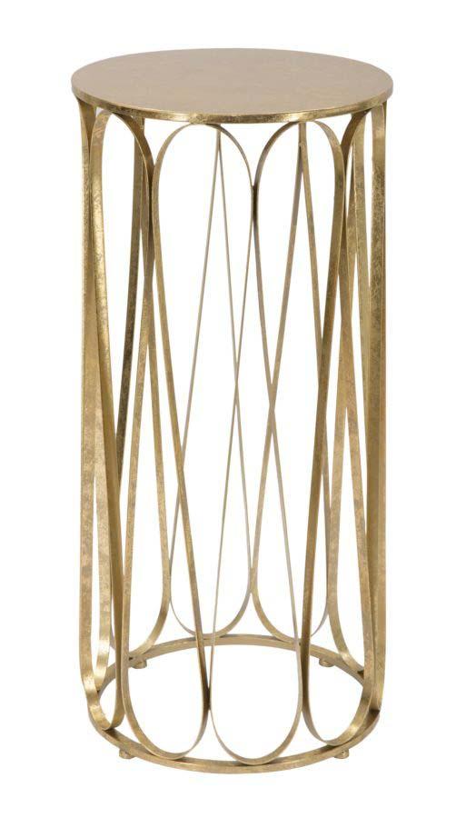 Masă de telefon Venice, 81x37x37 cm, metal, auriu