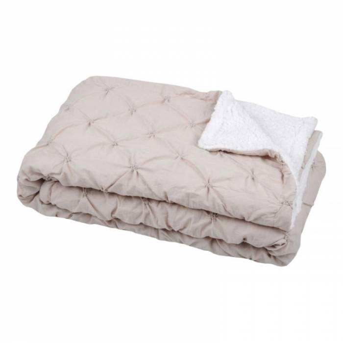 Cuvertură de pat elegantă matlasată Blush Naturel 220x240 cm