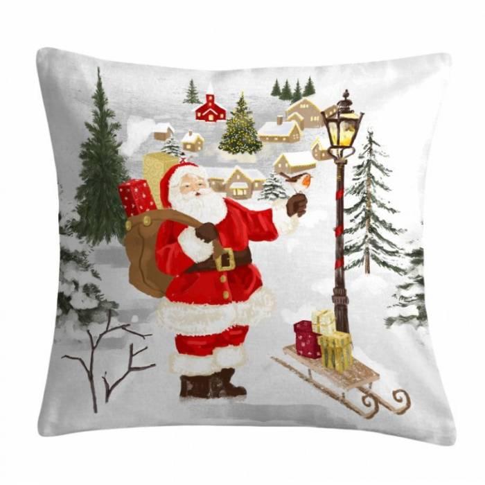 Pernă model mos Crăciun cadouri Avent 1 50x50 cm