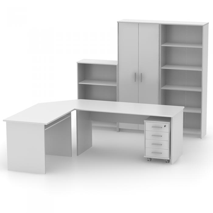 Biblioraft birou, alb, JOHAN 2 NEW 04