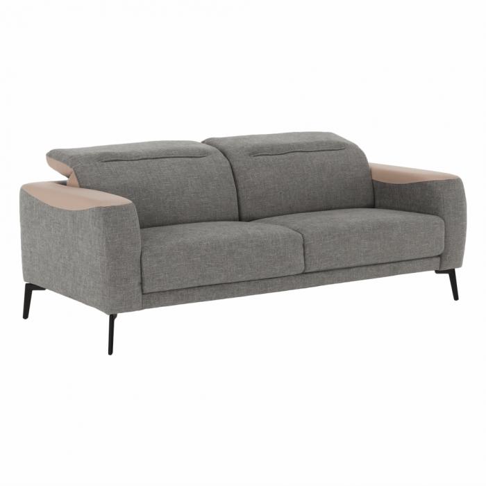 Canapea 3 locuri, gri/bej, KARITON