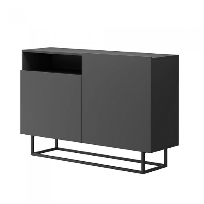 Comodă, grafit/negru, SPRING EK120