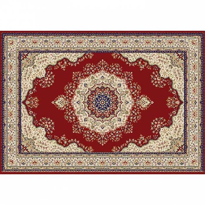 Covor 133x190 cm, vişiniu/amestec de culori/model oriental, KENDRA TIP 3