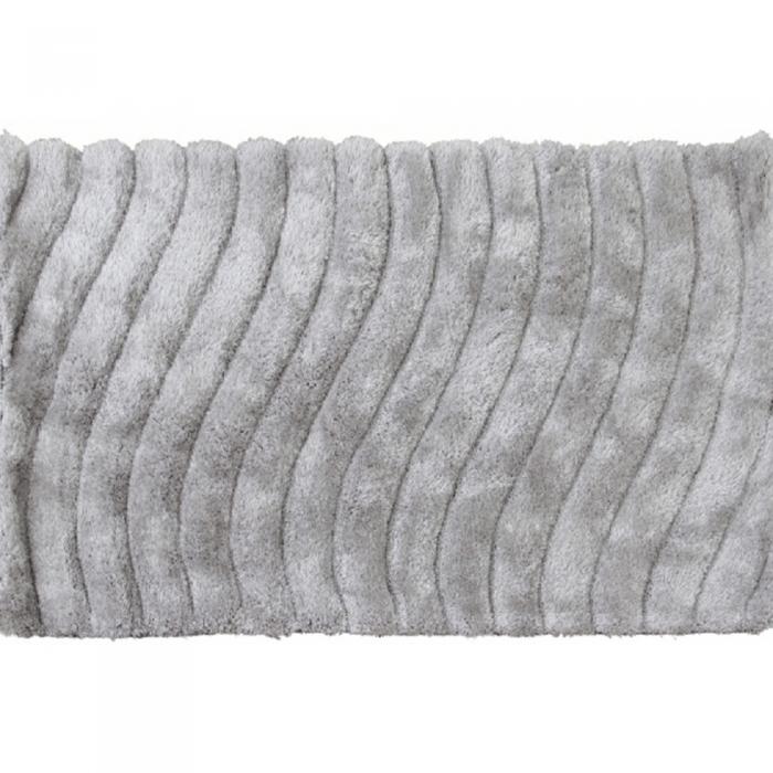 Covor 170x240 cm, alb/gri, SELMA