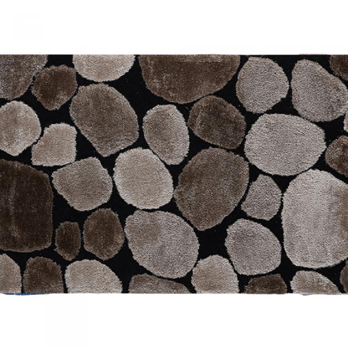 Covor 80x150 cm, maro/bej/negru, PEBBLE TYP 2