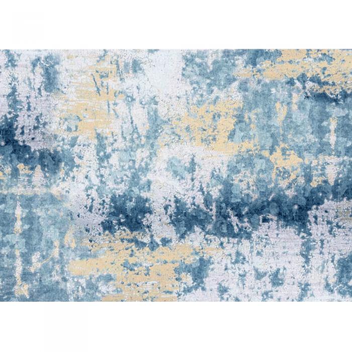 Covor 80x200 cm, albastru/gri/galben, MARION TIP 1