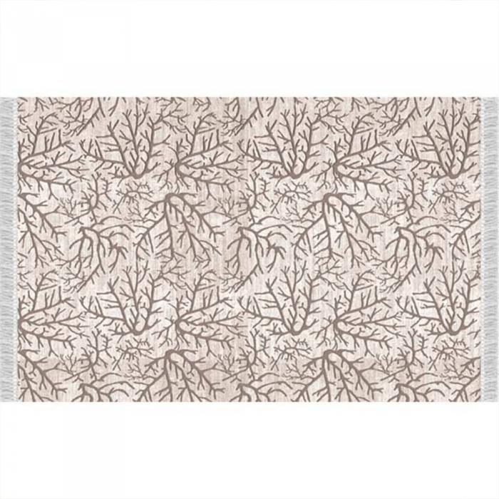 Covor, model creangă/bej, 80x150, ARILA
