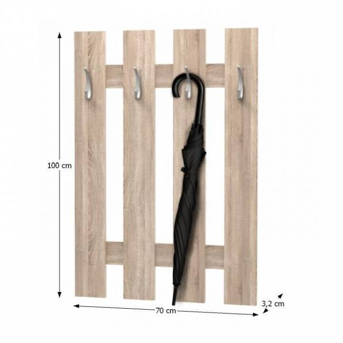 Cuier perete, stejar sonoma, KORADO NEW KV11