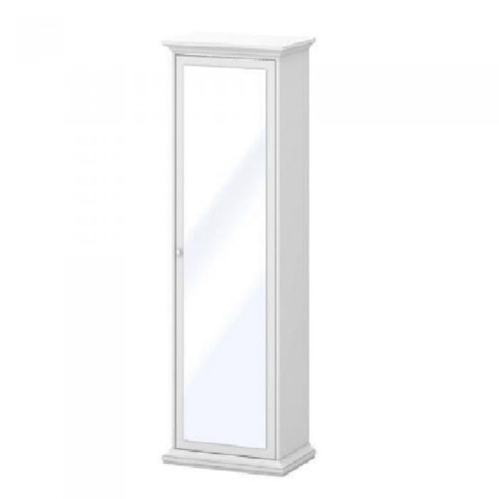 Dulap cu rafturi şi oglindă 75356, PAL înfoliat/MDF lăcuit, alb, PARIS