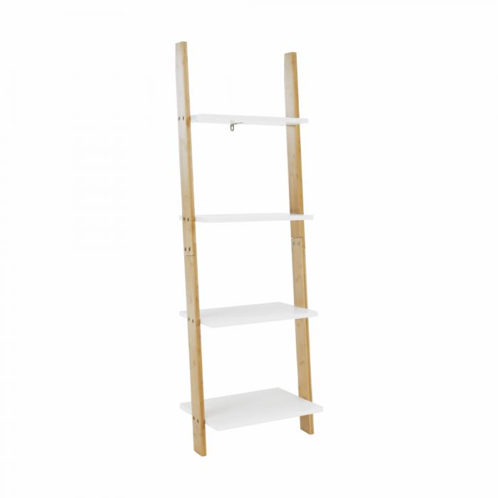 Etajeră, alb/bambus, GAPA TYP 2