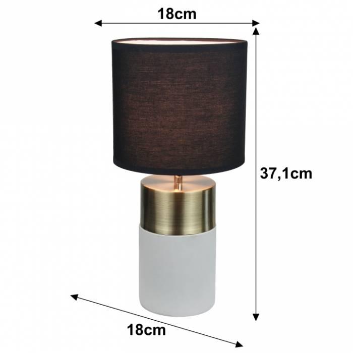 Lampă de masă, gri deschis/negru, QENNY TIPUL 20