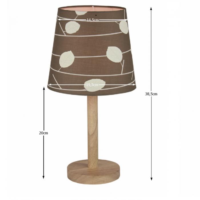Lampă pe picior, lemn/material model frunze, QENNY TYP 6 LT6026