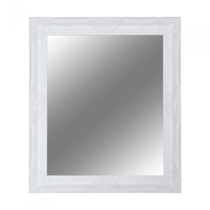Oglindă, cadru alb din lemn, MALKIA TIP 13