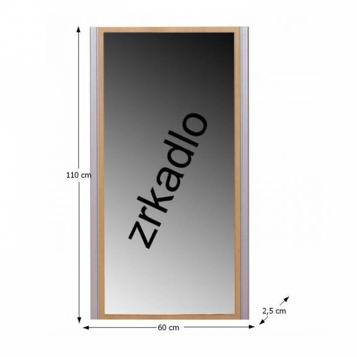 Oglindă, fag, argintie, LISSI TIPUL 09