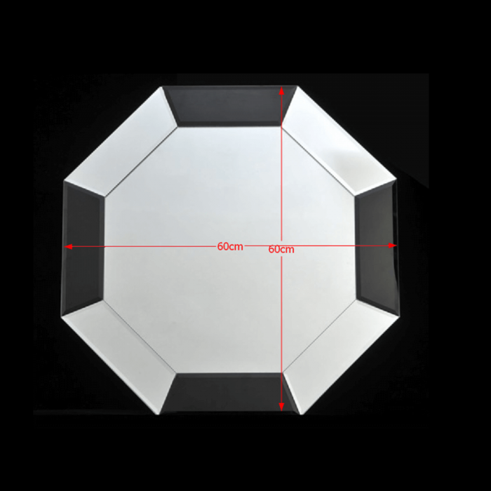 Oglindă, negru/alb, ELISON TYP 15