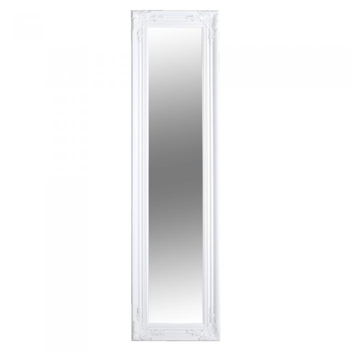 Oglindă, ramă din lemn în culoarea albă, MALKIA TYP 8