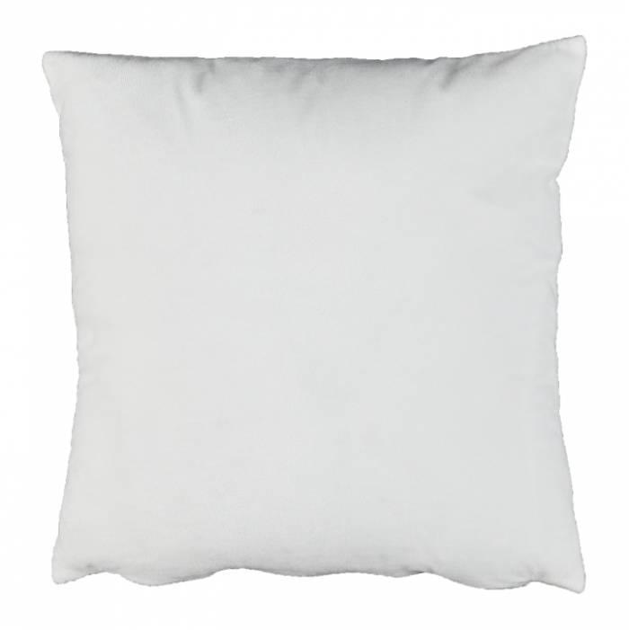 Pernă, material textil de catifea alb, 60x60, OLAJA TIPUL 13