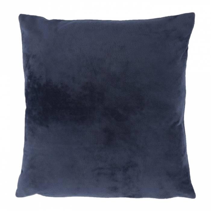Pernă, material textil de catifea albastru închis, 60x60, OLAJA TIPUL 6