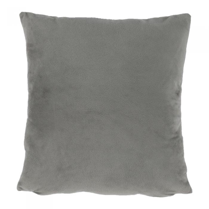 Pernă, material textil de catifea gri-maro Taupe, 45x45, ALITA TIPUL 3