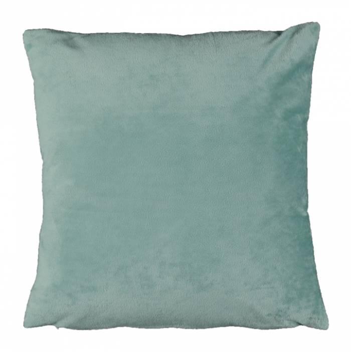 Pernă, material textil de catifea mentol, 60x60, OLAJA TIPUL 10