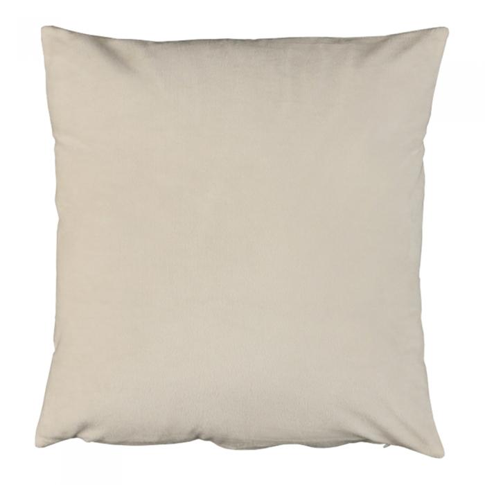 Pernă, material textil de catifea smântâniu, 45x45, ALITA TIPUL 1