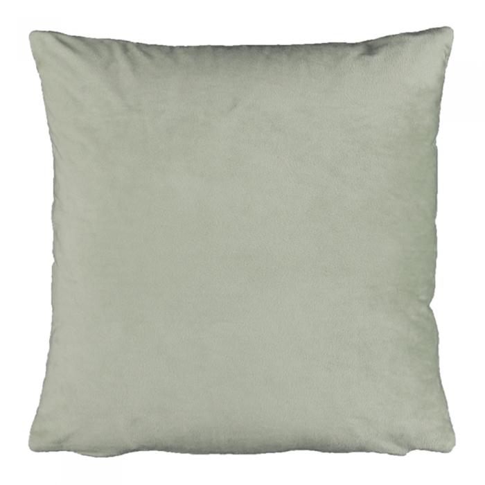 Pernă, material textil de catifea verde deschis, 45x45, ALITA TIPUL 14