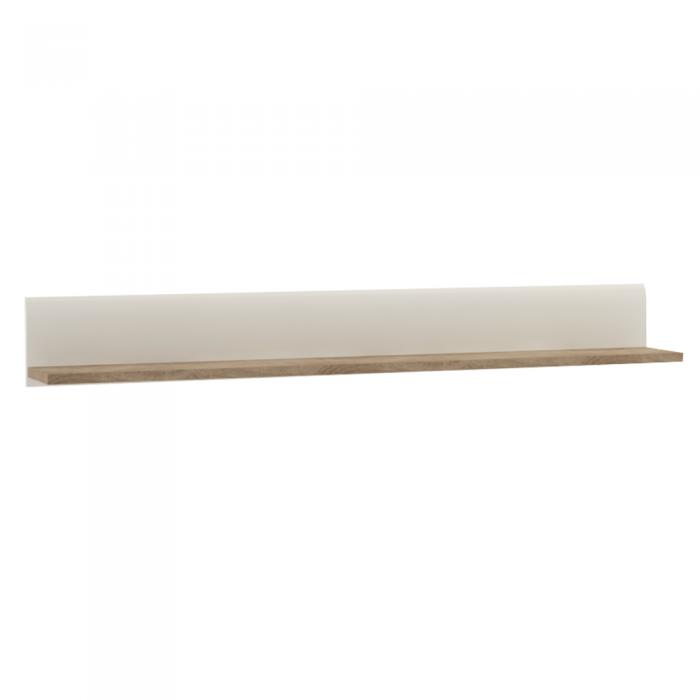 Raft, alb strălucitor HG/stejar sonoma închis, LYNATET TYP 60