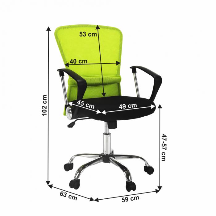 Scaun birou, verde/negru, AEX