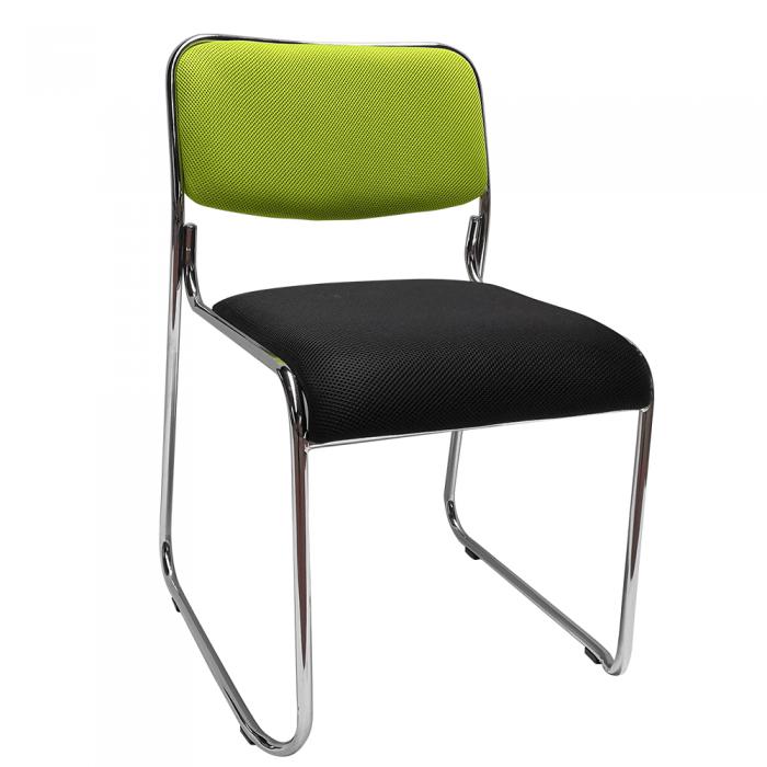 Scaun conferinţă, verde/plasă neagră, BULUT