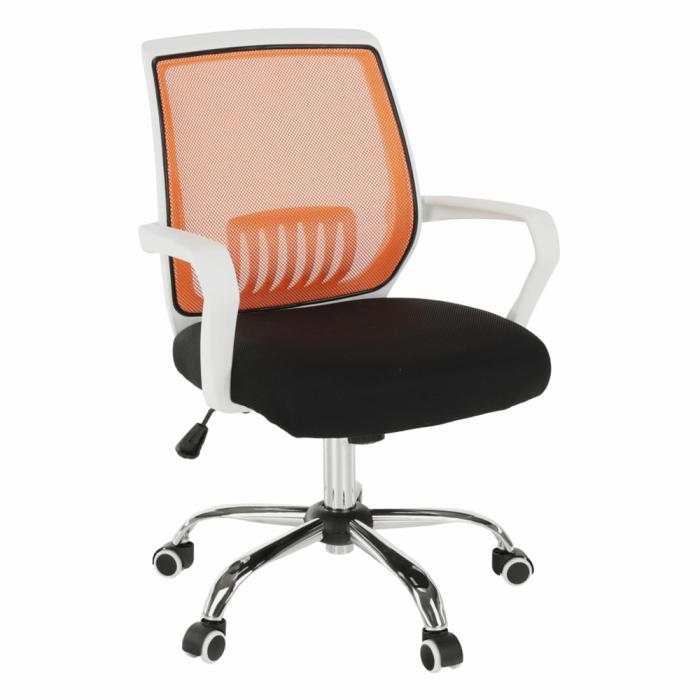 Scaun de birou, negru/portocaliu, LANCELOT