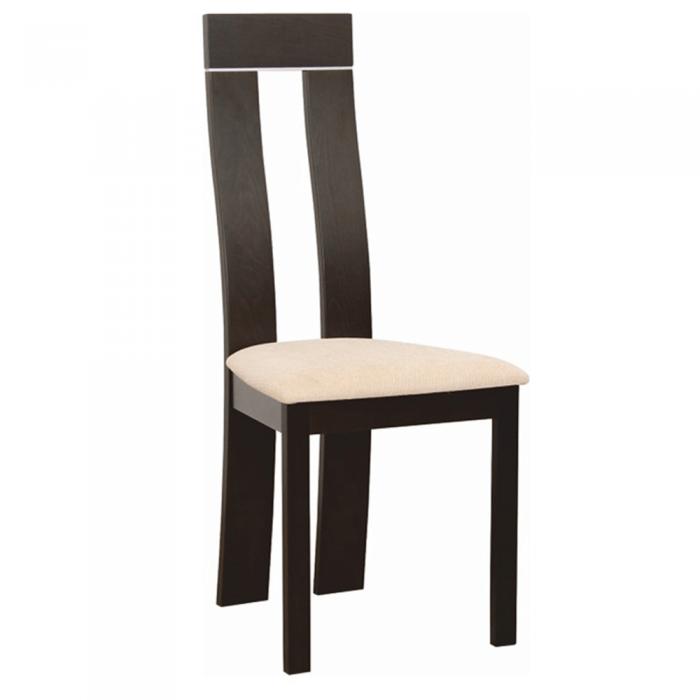 Scaun din lemn, wenge/textil bej, DESI NEW
