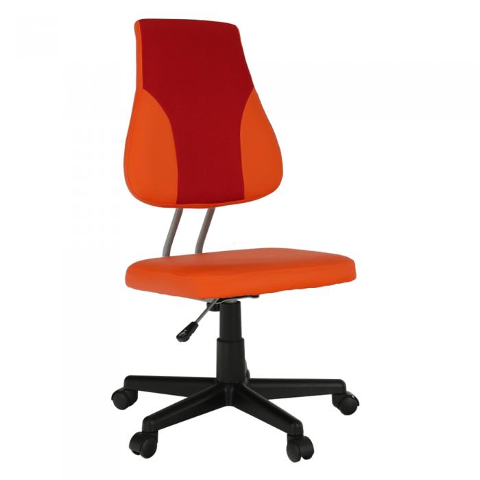 Scaun rotativ, portocaliu/roşu, RANDAL