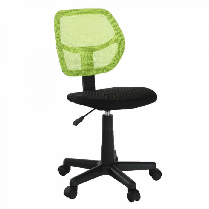 Scaun rotativ, verde / negru, MESH