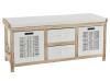Banchetă cu 4 sertare, alb/miere, LINORA