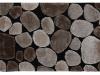 Covor 100x140 cm, maro/bej/negru, PEBBLE TYP 2