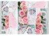 Covor 120x180 cm, model trandafiri, multicolor, SONIL TIP 2