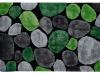 Covor 120x180 cm, verde/gri/negru, PEBBLE TYP 1