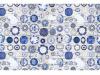 Covor 160x230 cm, albastru/crem, PARLIN