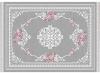 Covor 80x150 cm, gri/model cu flori, SEDEF TIP 2