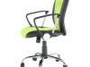 Fotoliu de birou, galben cu verde/negru, TABAREZ 1513