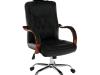 Scaun de birou, piele ecologică neagră / vişiniu / crom, ZAKAR