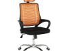 Fotoliu de birou, portocaliu/negru/crom, IMELA TYP 1